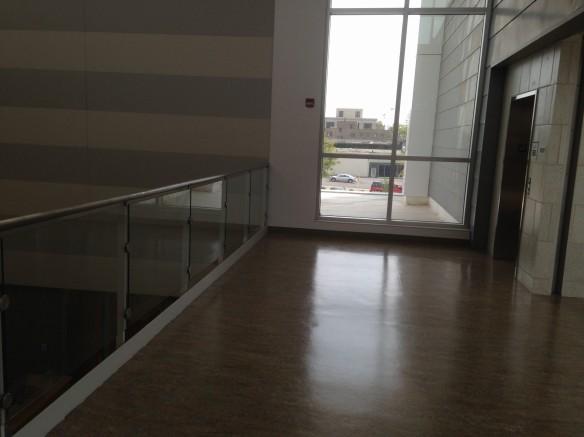 Floor space for easels on third floor landing
